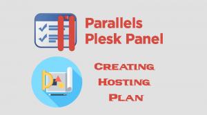 Plesk Creating Hosting Plan