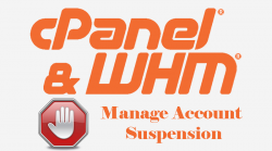 WHM Manage Account Suspension