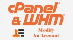 WHM Modify An Account