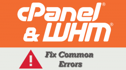 WHM cPanel Fix Errors