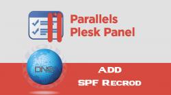 Plesk Add SPF Record